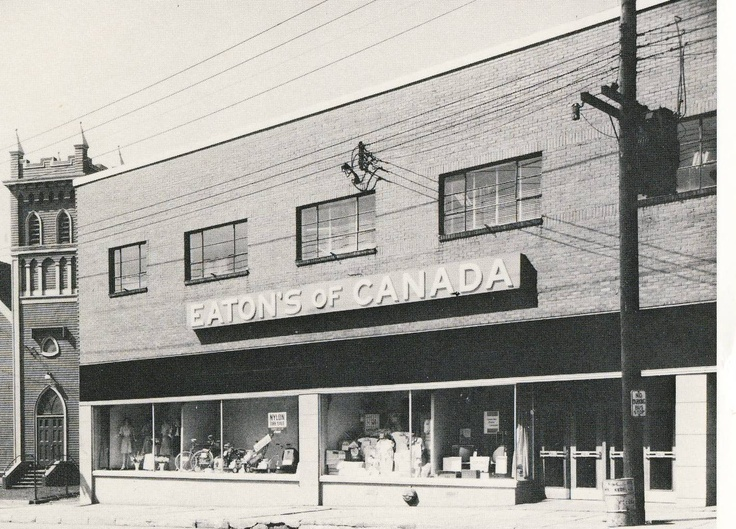 Eaton's Department Store_Glace Bay_Cape Breton_Nova Scotia_1965 http://CaperMemories.Com