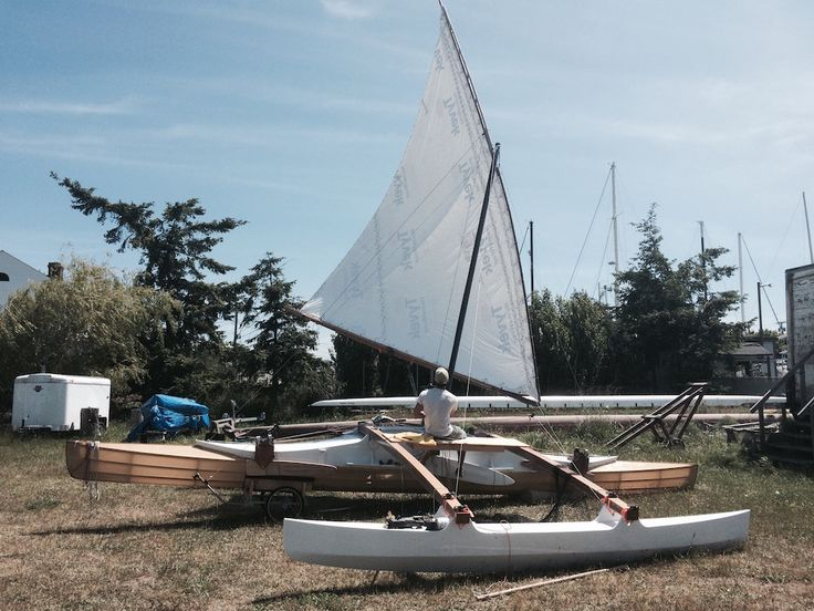 Proa File | Palindrome: skin-on-frame proa for the R2AK | Boats | Sailing kayak, Boat, Boat building