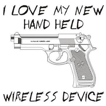 I love my new hand held wireless device. #Gun #Humor #Hunting