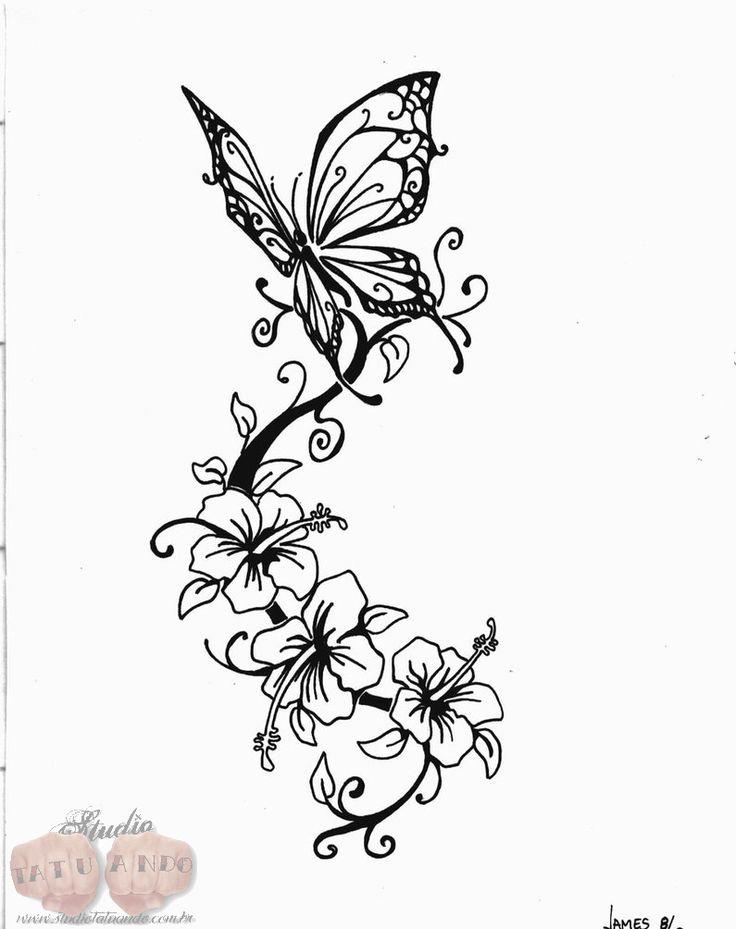 tattoo desenhos | Desenhos de Borboletas - Studio Tatuando – Tattoo e Piercing Pelotas