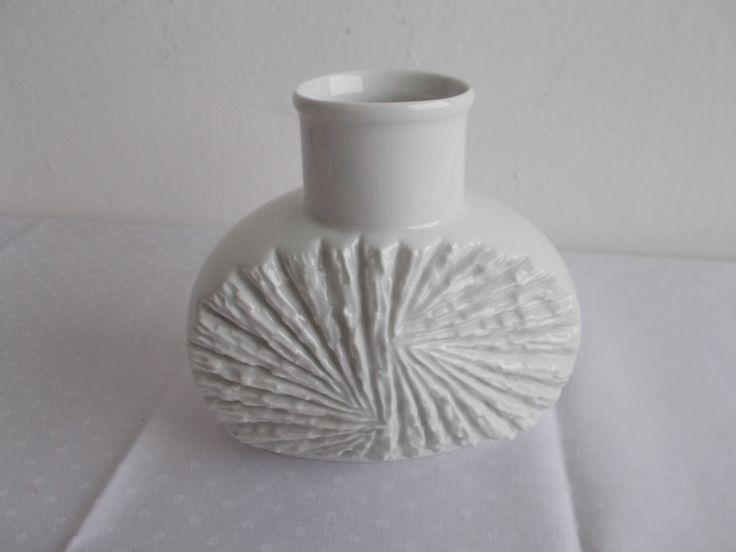 OP Vase Tischvase Winterling Porzellan glasiert 60er 70er h15cm