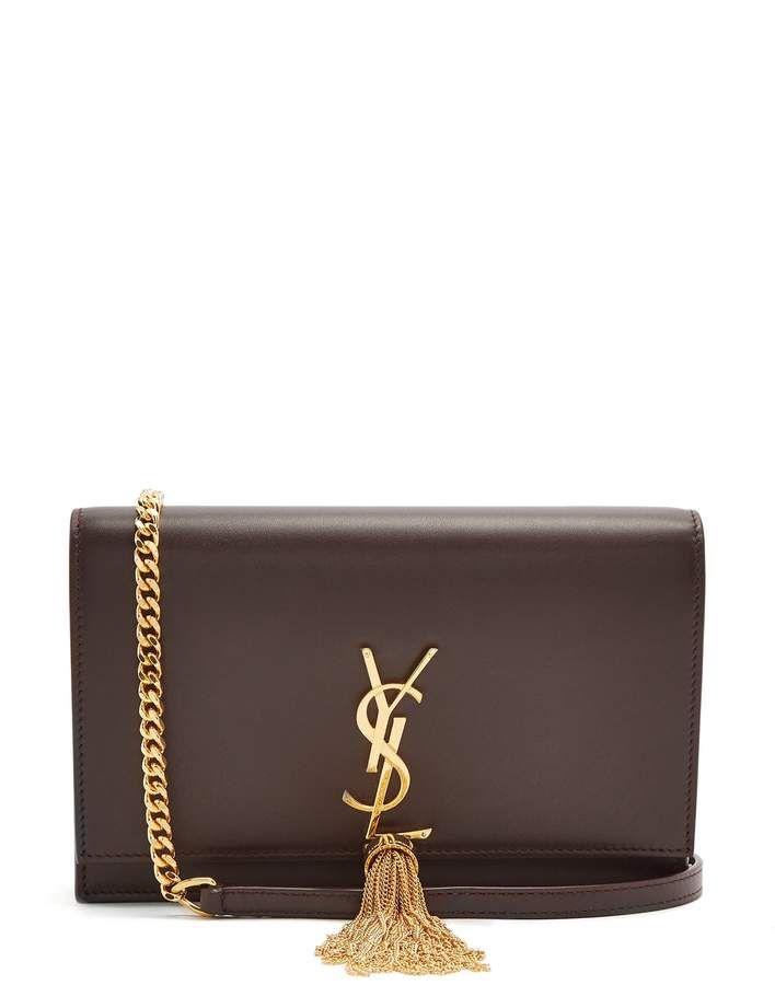 8bf7d09e3db Yves Saint Laurent   Monogram   Kate Small Cross-Body Bag   Brown ...