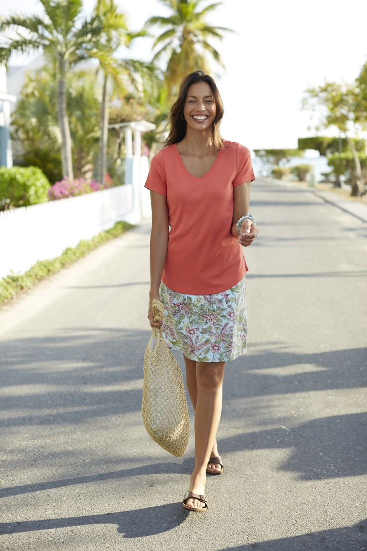 easy a line printed knit skirt summer style