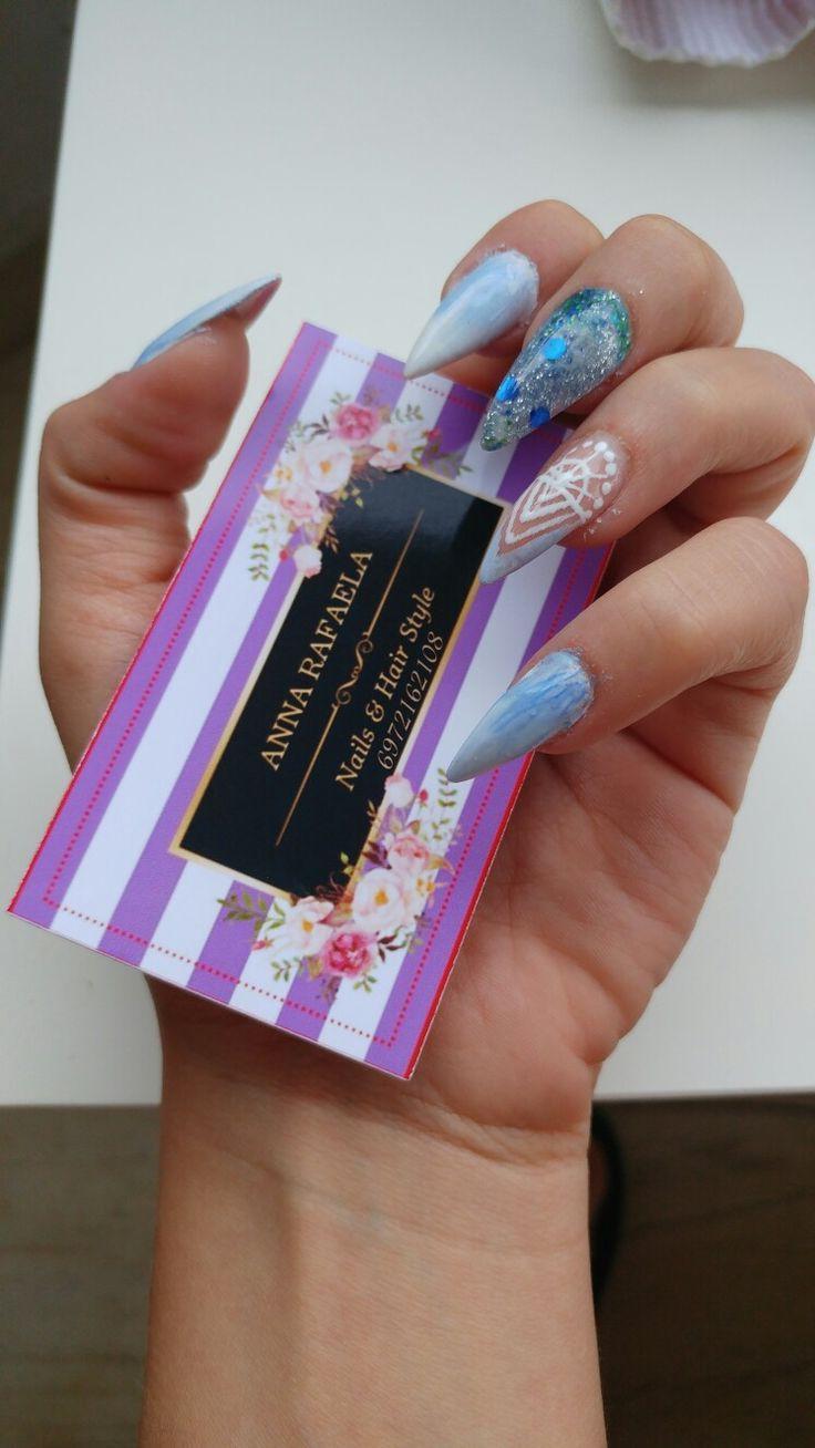 Gel nail art #salonderaf