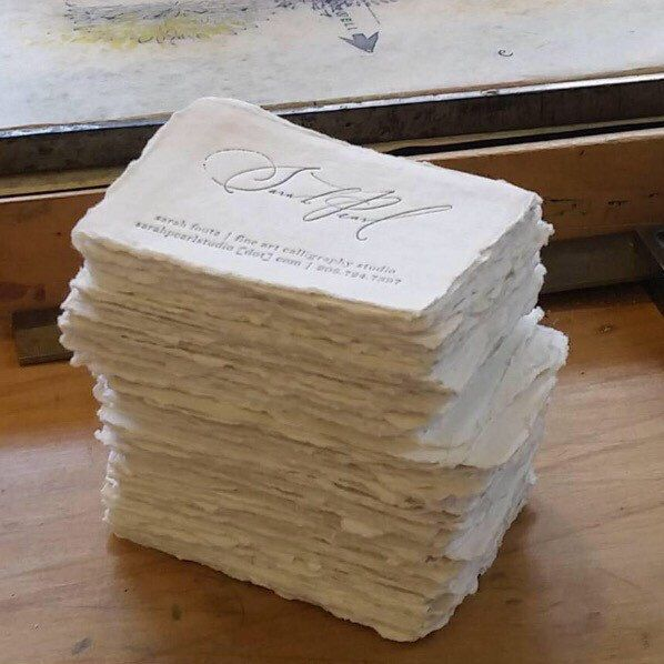 Letterpress Business Cards Cotton Paper FREE SHIPPING Deckle Table Cards Escort Cards Deckled Edge Torn Edge by FabulousFancyPants on Etsy https://www.etsy.com/listing/268700309/letterpress-business-cards-cotton-paper