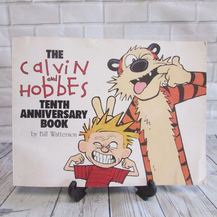 Calvin and Hobbes Tenth Anniversary Book Paperback Bill Watterson Comics Humor