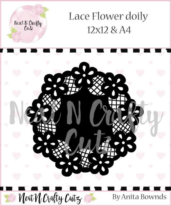 lace Flower doily cut file. For scrapbooking by NeatNCraftyCutz
