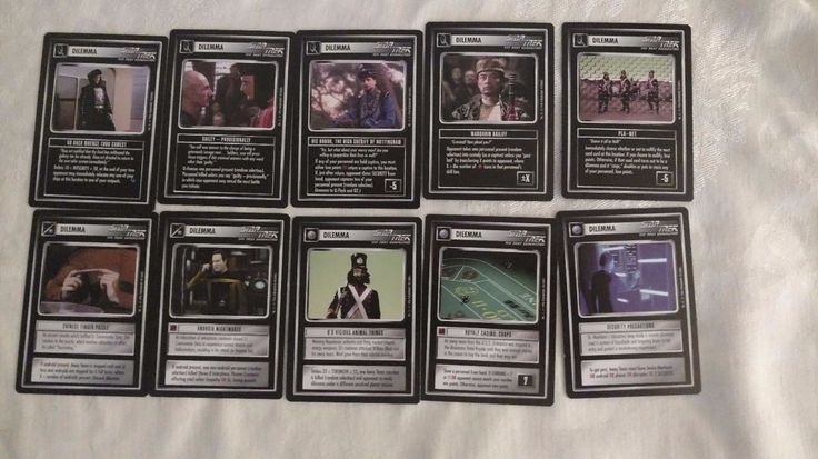Star Trek CCG Paramount Cards TNG 1996 Near Mint DILEMMA Set of 10 #ParamountPictures