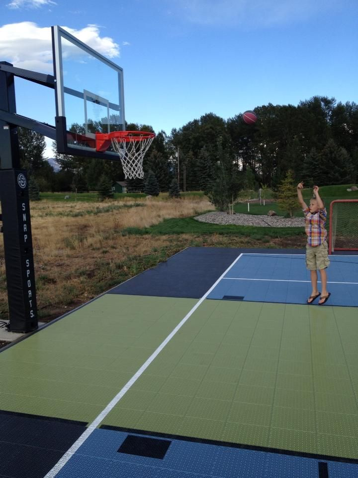 30 best home basketball courts for all sports images on for Cost to build outdoor basketball court