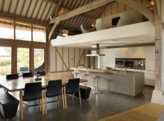 matt grey/white contemporary kitchen KitchenArchitecture - eco barn conversion in Vale of the White Horse