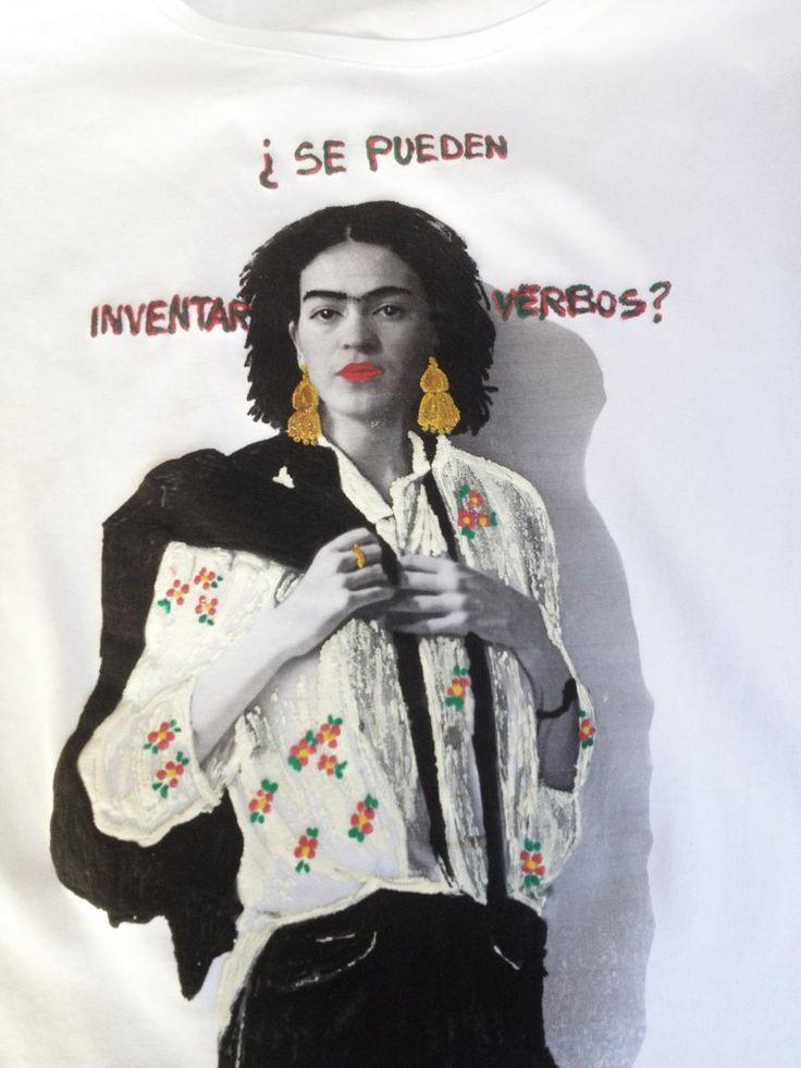 Frida Kahlo  interprets Patti Smith  T shirt  Painting 3D