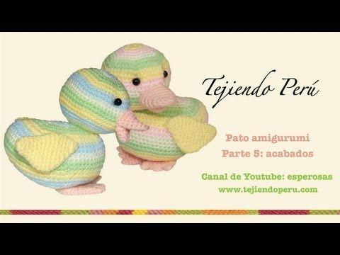 Pato amigurumi (Parte 5: acabados)