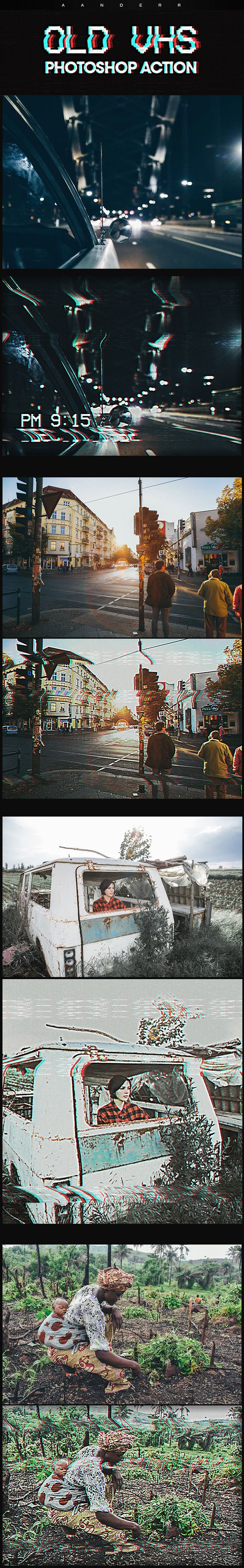 Old VHS Photoshop Action  #vhs #old • Download ➝ https://graphicriver.net/item/old-vhs-photoshop-action/18381927?ref=pxcr