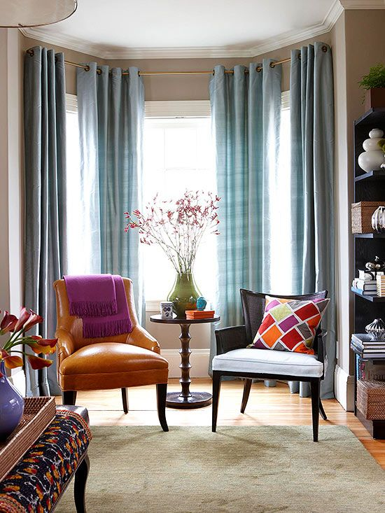 Drapes are a surefire way to make a room polished and fished.