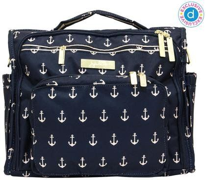We're obsessed with this NEW Ju-Ju-Be The Admiral diaper bag. Super-stylish, lots of pockets and machine washable!