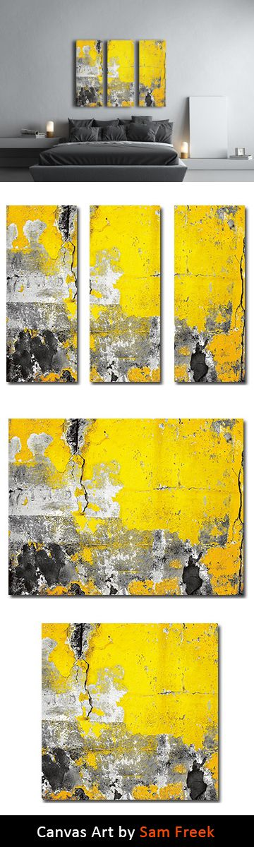23 best Yellow Canvas Wall Art images on Pinterest | Canvas, Canvas ...