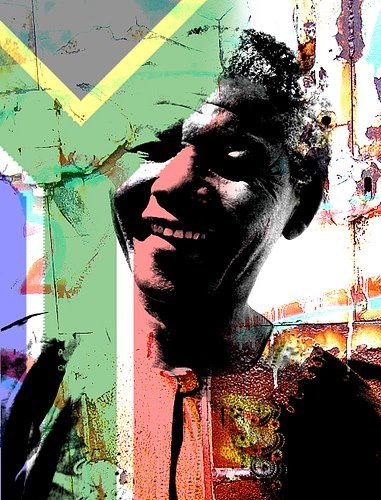 Beautiful artwork of Nelson Mandela.