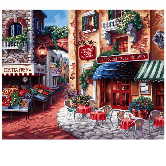 <div>Let this paint by number scene take you wondering through the streets of Italy. As you appr...