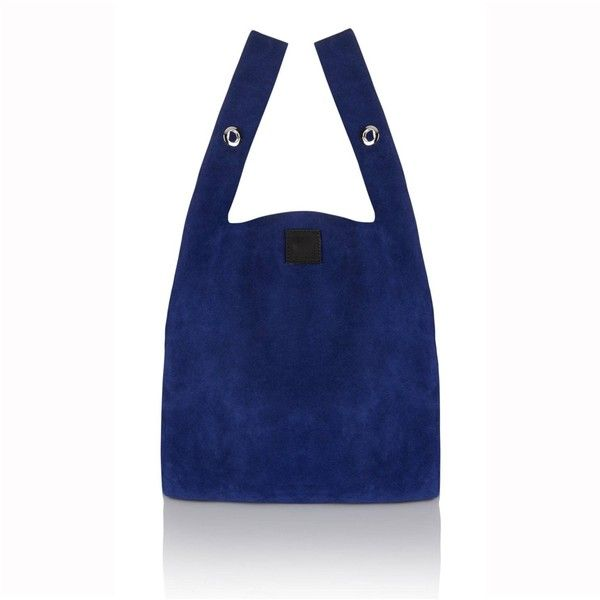Christopher Waller - Carrier Bag Cobalt (£195) ❤ liked on Polyvore featuring bags, handbags, over the shoulder bags, checkered bag, blue handbags, over the shoulder purse and over the shoulder handbags