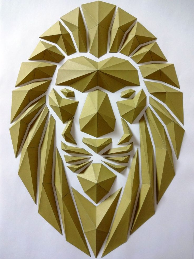 how to make a paper lion head