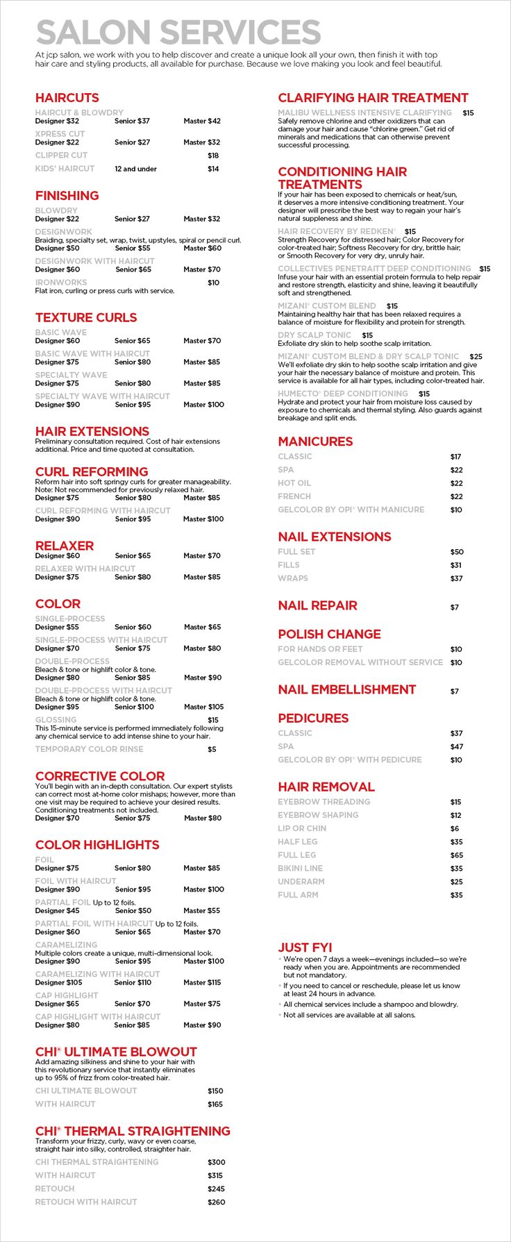 jcp Salon Services - Haircuts, Manicures, Pedicures, & Corrective Coloring - JCPenney