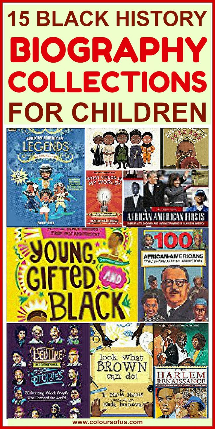 15 Black History Biography Collections for Children: Books for Black History Month; Preschool, Elementary School, Middle School, High School, Ages 4 to 18