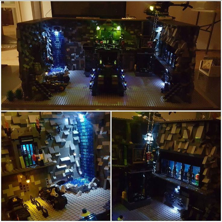 Finally finished my custom lego batcave!! happy with the end result.   #legoland…