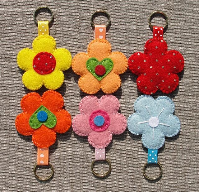 Felt Keychains (Vilten Sleutelhangers), set 4 by Made by BeaG, via Flickr