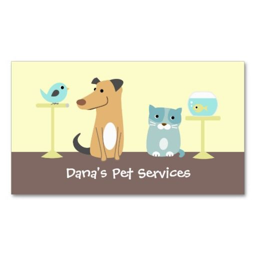 1000 images about pet sitting business cards on pinterest for Pet business cards