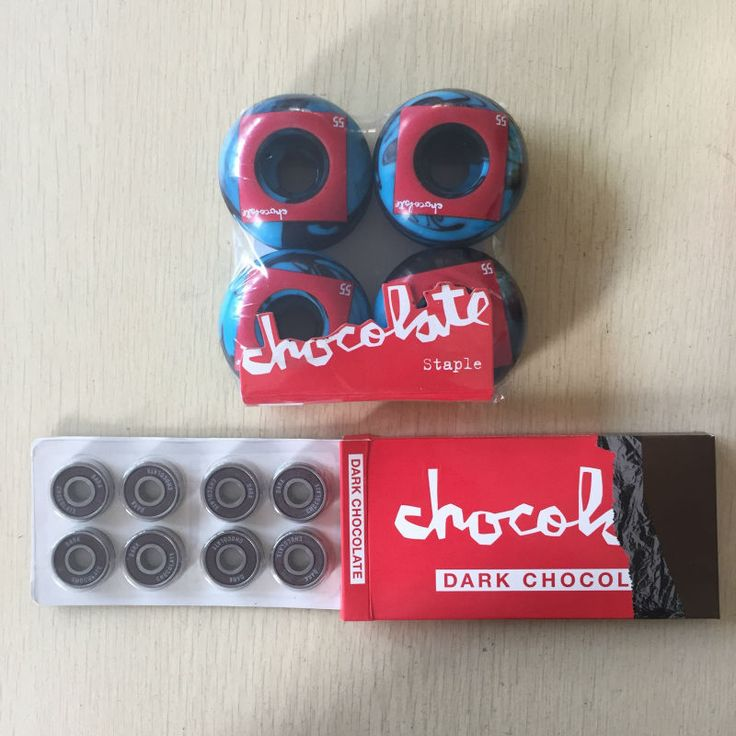 Free Shipping Skateboard Parts CHOCOLATE 101A Skateboard Wheels & CHOCOLATE ABEC-5 Bearings Skateboard for Skate Deck