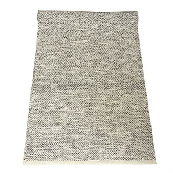 Edgar rug black-white - 160x230 cm - Boel & Jan