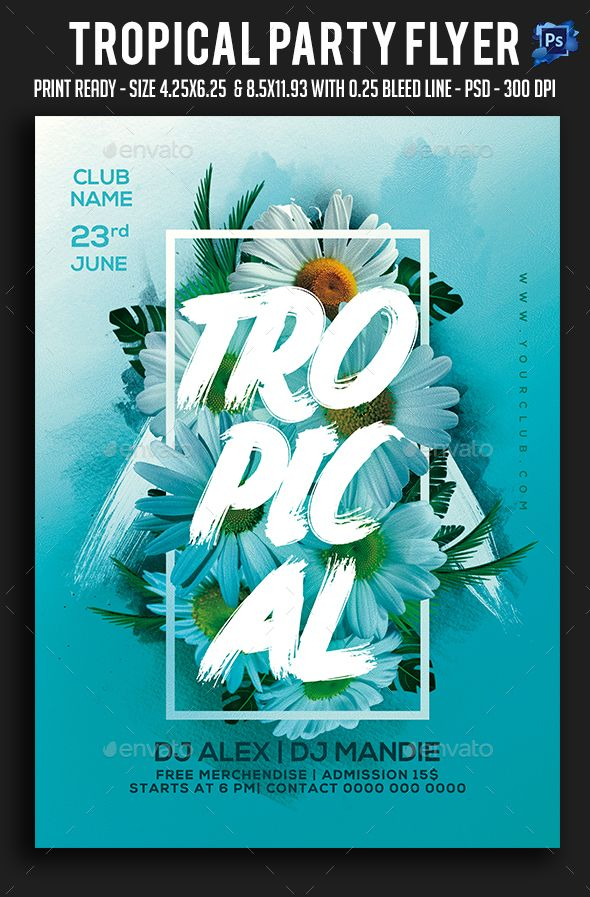 Tropical Party Flyer – Clubs & Parties Events