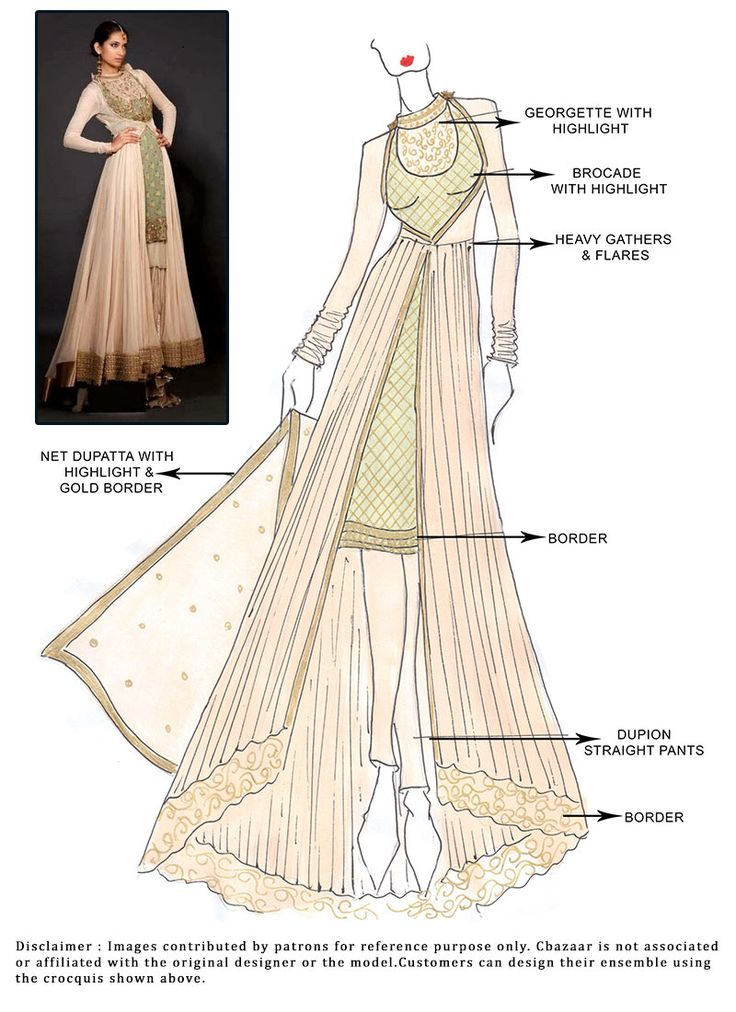 #DIY Cream Floor Length #Anarkali Suit