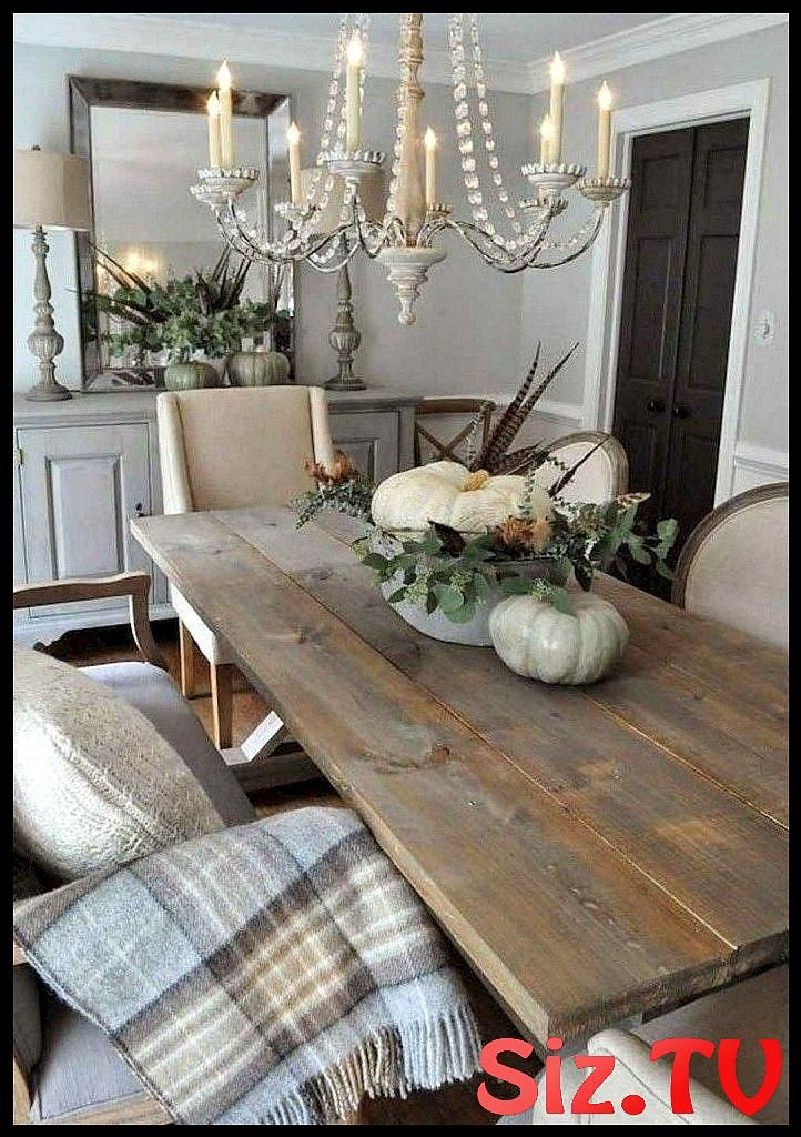 32 Stunning Rustic Farmhouse Dining Room Set Furniture Ideas With