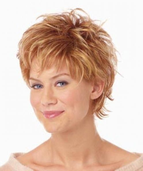 Short Layered Hairstyles For Women Over 50 With Round Faces Short