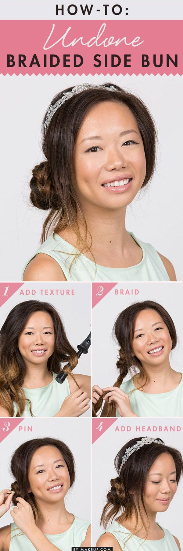 Undone Braided Side Bun - 11 Summer Hair Buns