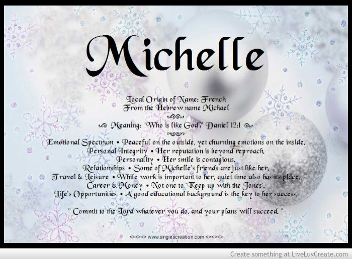 The 25+ best Michelle name meaning ideas on Pinterest ...