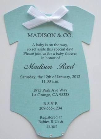 Tiffany & Co. Inspired Onesie Baby Shower Invitations -- Keepsake Imprints Online Store