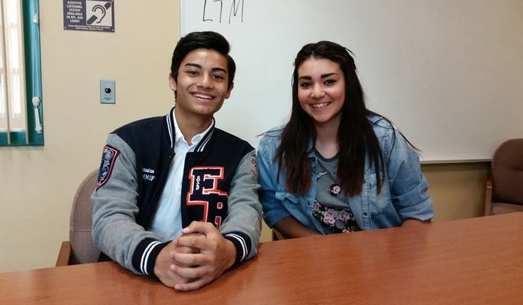 Eleanor Roosevelt High School students Christian Esplana, 11th grade, and Joelle Carreon, 10th grade, were recently encouraged to take AP courses.