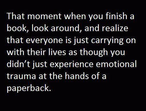 i have experienced this so many times! I am always shocked that no one else is freaked out with me! PLUS, if I keep thinking about a book days after I finished it, I know it will make my FAVS  list!
