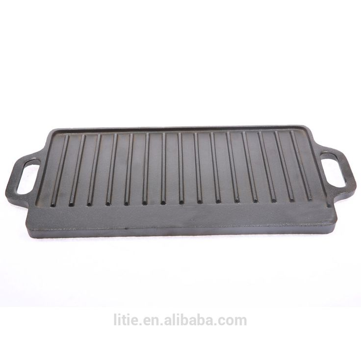 Cast Iron BBQ Grill Double Sided Grill Pan