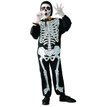 Skeleton Child Halloween Costume, Boy's, Size: Large, Multicolor