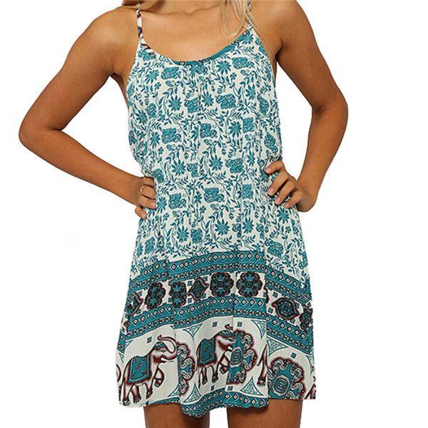 Bohemian Print Beach Dress