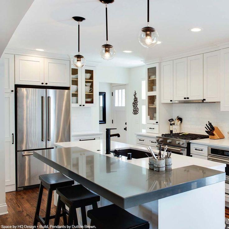 Cap Pendant 6 Contemporary Kitchen Modern Kitchen Island Home