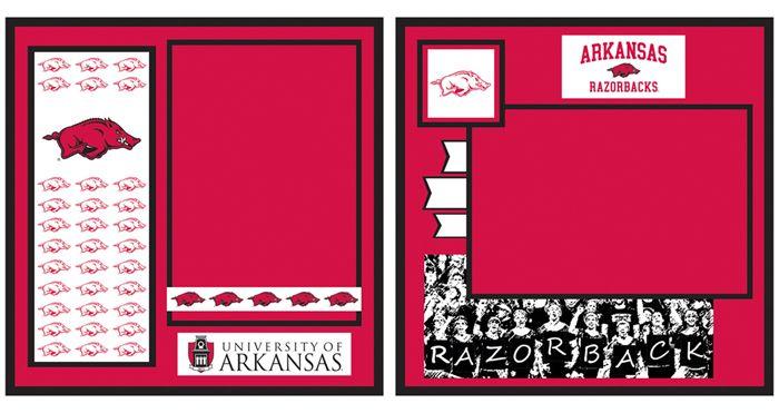 Uniformed Scrapbooks of America - 8 x 8 Page Kit - University of Arkansas at Scrapbook.com $9.99