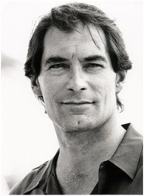 Timothy Dalton - quite a few people see him as Emerson - looking at the chin... I can see where they're coming from, ummm  maybe? #ElizabethPeters #AmeliaPeabody