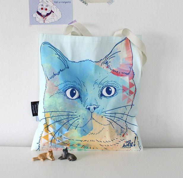 Kotye+niebieski+-+torba+w+Terakoty!+na+DaWanda.com