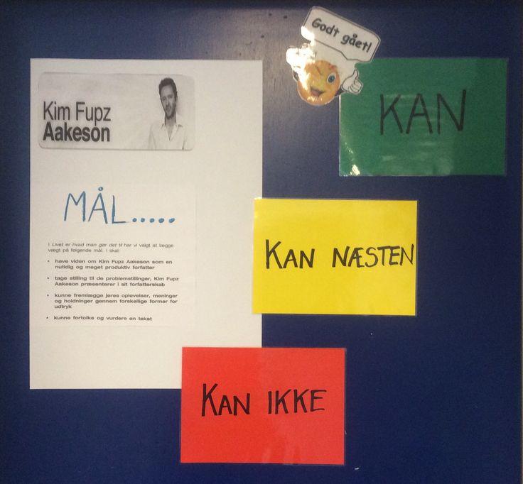 Eleverne i 6. Klasse arbejder med Kim Fupz Aakeson og ved præcist hvilke mål de skal arbejde med.... Vejen til målet er eleverne selv med til at fastsætte...