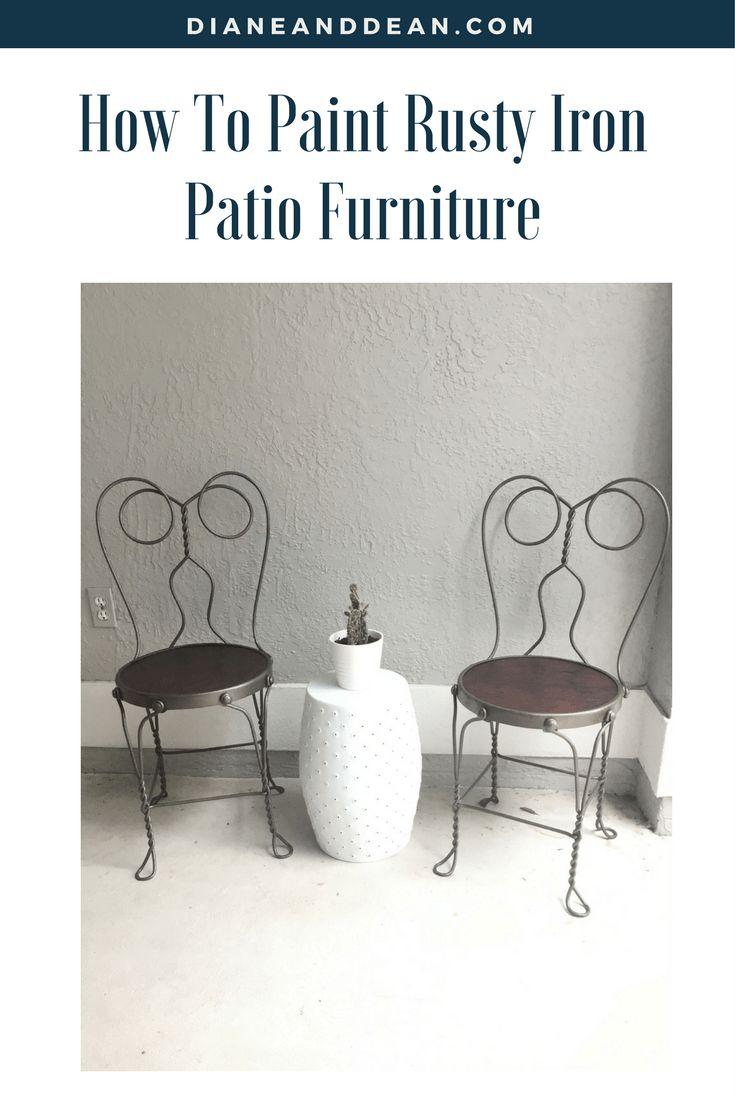 Painted iron patio furniture - How To Paint Iron Patio Furniture