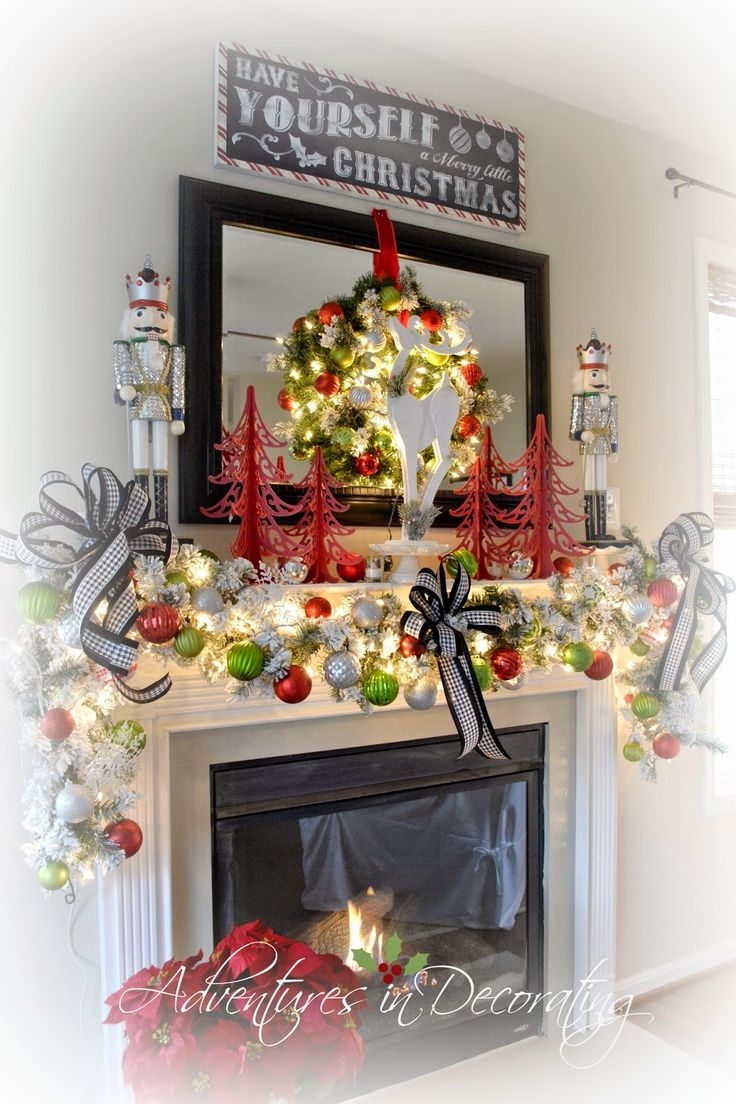 323 best christmas mantels images on pinterest christmas mantels